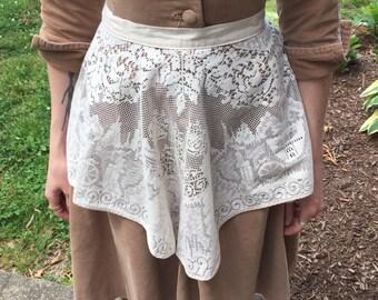 Vintage cinderella carriage fairy tale lace apron