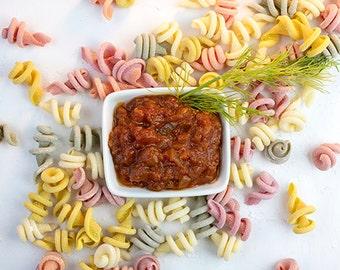 Pasta Swirls and Marinara Sauce