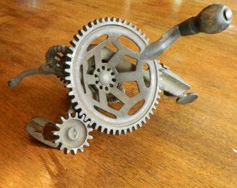 Vintage Apple Peeler, Cast Iron Decorative Gears, Vintage Kitchen Decor, Antique Gears, Hand Crank Peeler, Apple Corer, Rustic Home Decor