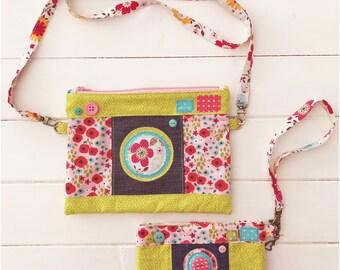 Camera Style Zipper Bag and Matching Phone Case PDF Sewing Pattern