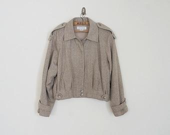 Vintage 80s wool bomber jacket // Size S/M
