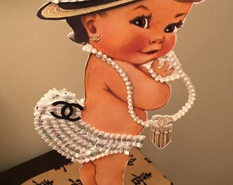 1 baby girl  baby shower centerpiece