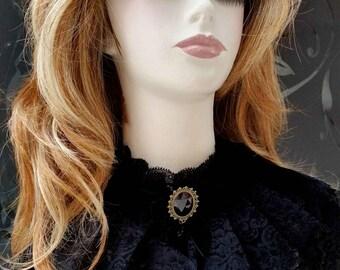 Princess style Black Lace v-neck