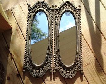 Tall narrow long etsy for Narrow decorative mirrors