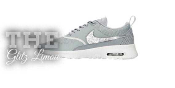 80%OFF Nike swarovski authentic glitz gems bling gray by TheGlitzLimou 5398e978b