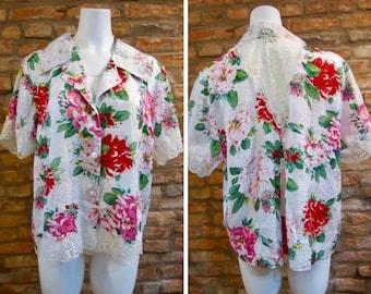 Vintage Victoria's Secret NWT Night Shirt • 90s Victoria Secret Pink Sleepwear • Large Night Gown Lace Pajamas • Floral Lingerie Sleep Shirt