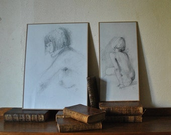 Studies of nudes from the living model.
