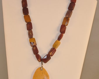 Rare Mookaite Pendant and Necklace