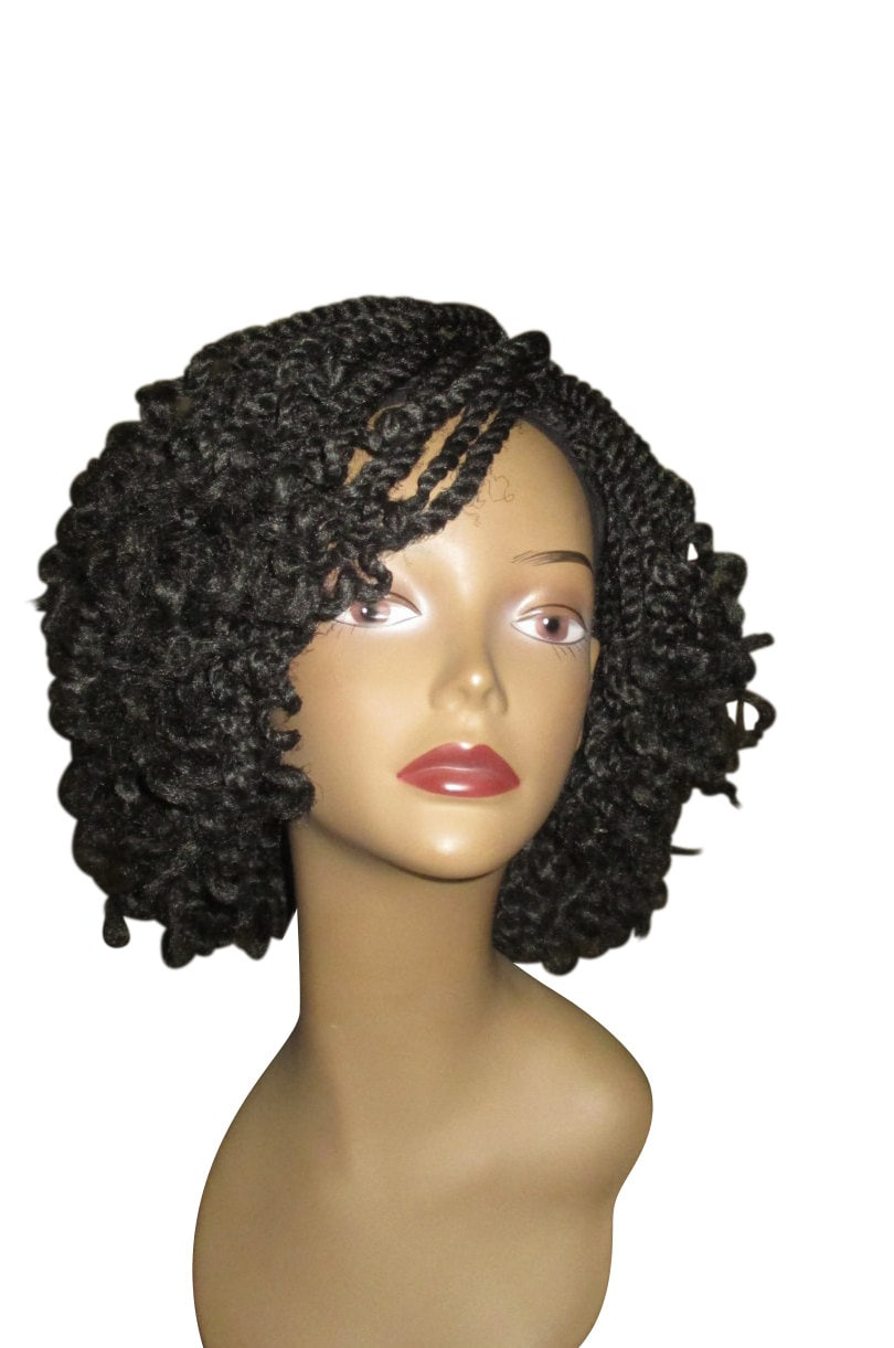 Essence wigs curly kinky twists crochet wig black natural for Salon locks twists tresses