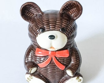 Vintage Otagiri Teddy Bear Bank - Vintage ceramic teddy bear bank - Animal bank - Ceramic coin bank - 70s teddy bear bank