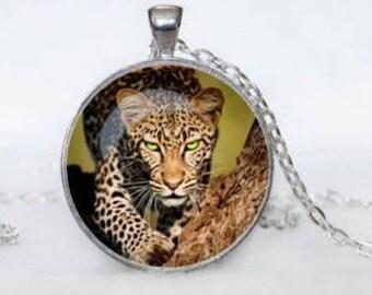 Leopard Cabochon Necklace
