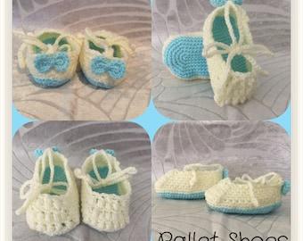 Crochet Baby Bootie - Knit Baby Bootie - Baby shoe
