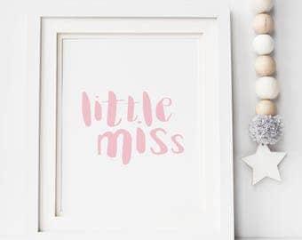 Little Miss Print - Foil Print - Nursery Print