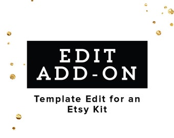 ADD ON LISTING - Edit My Etsy Shop Set Template - Add On Graphics for Instant Download Etsy Shop Set - Branding Package Premade Etsy Kit