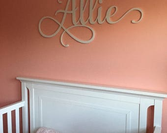 Wooden Name - Wooden Name Sign - Wall Hanging Letters- Nursery Name Letters - Wood Name Cutout - Dorm Room Wall Hanging - Letters for Wall