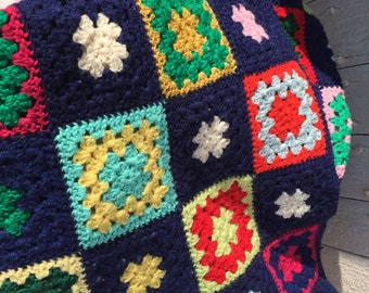 In vintage crochet bed covers