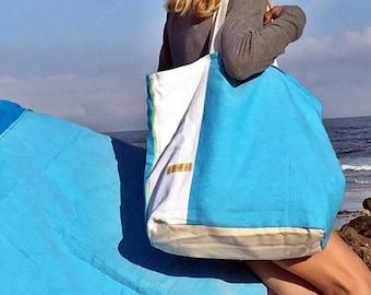Reversible beachbag & beach towel 2 pieces