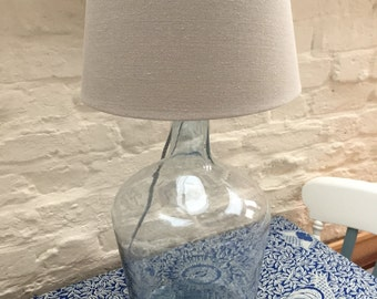 Vintage carboy table lamp