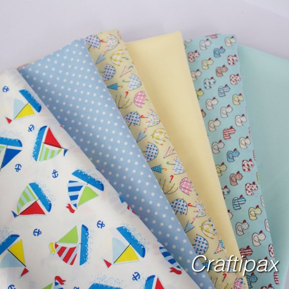 Fat quarter bundle mixed children 39 s fabric 100 cotton for Childrens fabric bundles