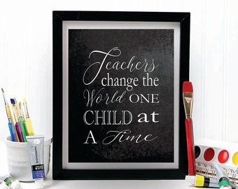 TEACHER GIFT, teacher gifts, teacher prints, gift for teacher, christmas gift, teacher appreciation, chalkboard print, gift ideas
