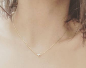 Gold Plated Mini Heart Necklace