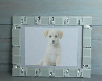 5x7 frame mosaic photo frame white frame photo frame 5x7 picture frame 5x7 white photo frame mosaic art wedding gift