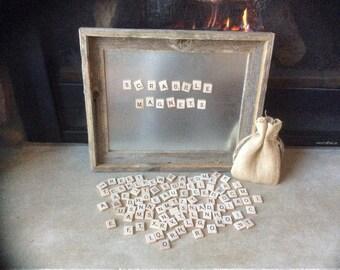 Scrabble piece magnets, full 100 piece set