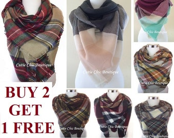 Blanket Scarf, Plaid blanket scarf, Tartan plaid scarf, Zara blanket scarf, Tartan scarf, Oversized scarf, Oversized plaid scarf