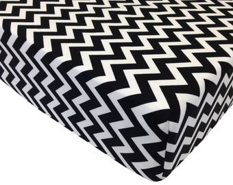 reg. price-26.00 Black Zig Zag Crib Sheet