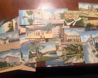 1940s 20 Mini Pierto Rico Postcards . Vintage Puerto Rico . Antique Puerto Rico . Puerto Rico Postcards