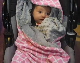 Hooded Car Seat Blanket, Baby Blanket
