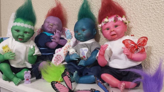 Any Two Trolls reborn dolls for special pricing!!! Reborn Troll Baby Doll/ fantasy/alternative reborn doll/ kids/ collectors/ Christmas SALE