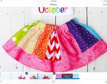 Peppa rainbow skirt