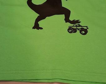 Boy's Dino truck T-Shirt