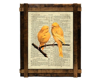 Canary Psalm 91 Printable Wall Art,Canary Psalm 91 Art print,Vintage Canary Print,Old Bible Scriptures Wall Art Print,Psalm 91 printable art