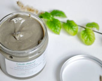 Organic Remineralizing Toothpaste, Natural Earth Paste, Bentonite Clay Tooth Polish No Baking Soda, Teeth Gums Strengthening Tooth Paste