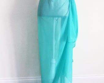 Sale Chiffon Sarong - sarong dress, beach sarong dress, silk sarong, plus size sarong, boho sarong, bridesmaid shawl, beach wrap, gift