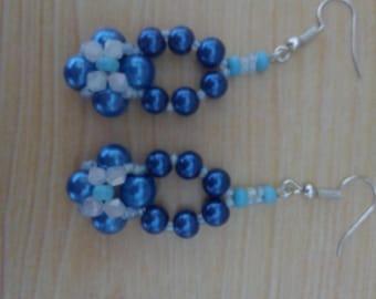 Handmade fimo and beads earrings