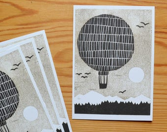 "Postcard set of 4 ""cannonball"""