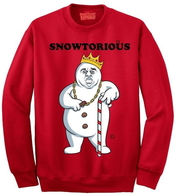 Snowtorious TM © Ugly Christmas Sweater Funny Christmas