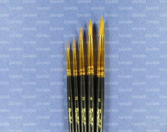 SYNTHETIC PROFESSIONAL 5 Brush Set 1315 Serie Watercolour Acrylic Oil Gouache Russian Roubloff