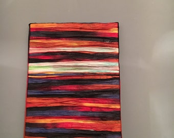 Sunset mixed canvas art papee