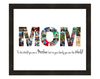 Mother's Day Gift, Personalized Photo Collage, Mom, Custom Made from your Photographs, Mom Life Art Print