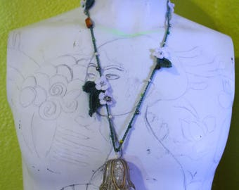Crochet Lily Necklace