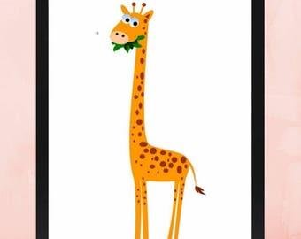 kids giraffe print, kids wall printable, kids wall decor, nursery wall decor, nursery print, nursery decor, baby nursery print, safari print