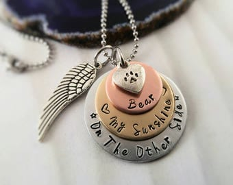 Custom Dog Memorial Necklace Jewelry~ Cat Memorial Necklace~ Pet Memorial Jewelry~ Pet Loss~ Dog Remebrance~ Cat Remembrance