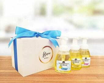 Newborn Baby Gift - Natural Baby Gift - Organic Foaming Shampoo & Body Wash Set - Baby Boy Present -Organic Bath