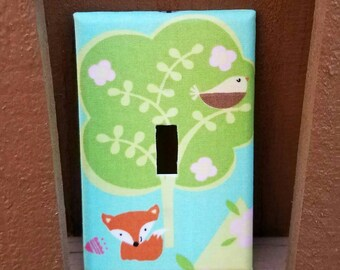 Fox Light Switch - Outlet Cover- Switch Plate Cover-Nursery Decor- Light switch cover-