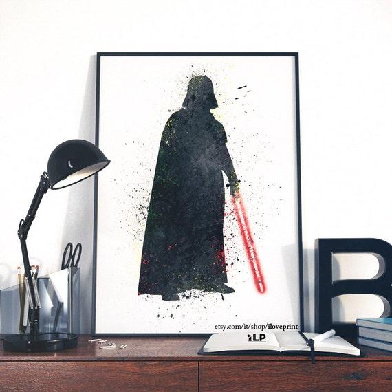 darth vader star wars kunstdruck lord vader star wars poster. Black Bedroom Furniture Sets. Home Design Ideas