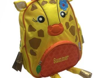 Personalised Giraffe Toddler Backpack